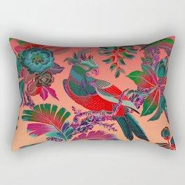 French Antique Wallpaper Rectangular Pillow