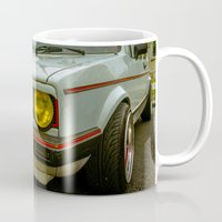 volkswagen Mugs featuring Volkswagen Golf Vintage by Eduard Leasa Photography