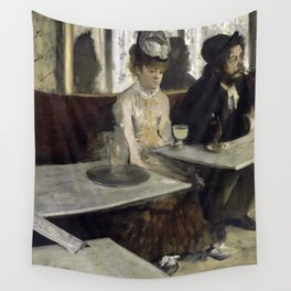 The Absinthe Drinker by Edgar Degas Wall Tapestry