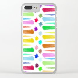 Rainbow Stripes Clear iPhone Case