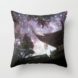 By Lantern Light and Starlight Throw Pillow