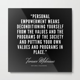 29 |  Terence Mckenna Quote 190516 Metal Print