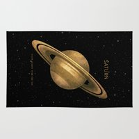 saturn Area & Throw Rugs featuring Saturn by Terry Fan