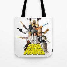 Star War Action Figures Poster - First 12 - Square Tote Bag