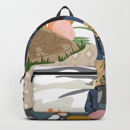 AUTUMN WALK print poster gifting decor graphic illustration Backpack