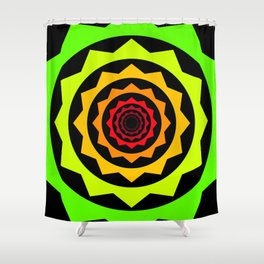 Abstract Spikey Tunnel Shower Curtain
