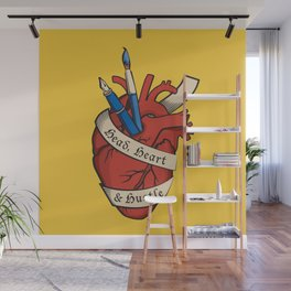 Head, heart & hustle Wall Mural