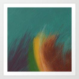 Sketchy Rainbow Abstract Digital Painting Art Print