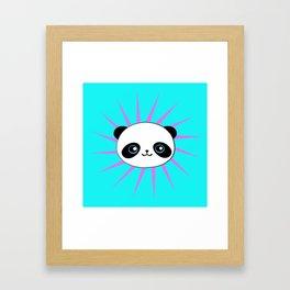 Wild Rockstar Panda Framed Art Print