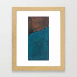 An Uphill Ride Framed Art Print