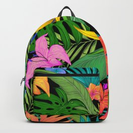 Jungle plants pattern Backpack
