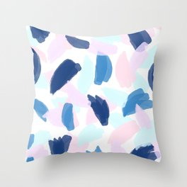 Blue and Pink Paint Throw Pillow