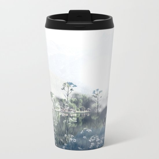 Mountain Bloom Metal Travel Mug