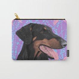 Happy doberman dog - Lila Carry-All Pouch