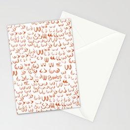 So many boobs Stationery Cards