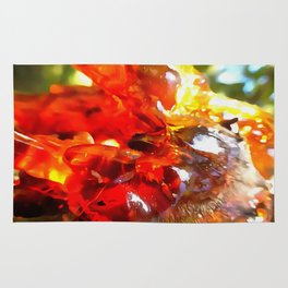 Apricot Resin Abstract Rug