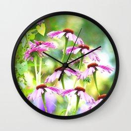 Wandering in the garden - summer mood Wall Clock