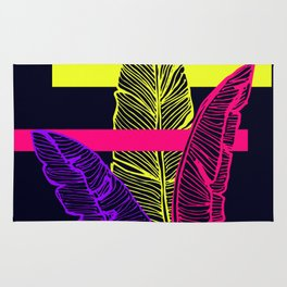 Neon Leaves #society6 #tropical Rug