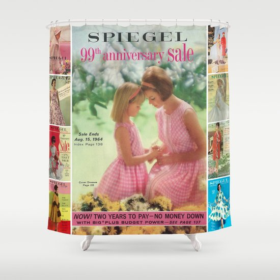 1964 - 99th Anniversary Sale Catalog Cover Shower Curtain