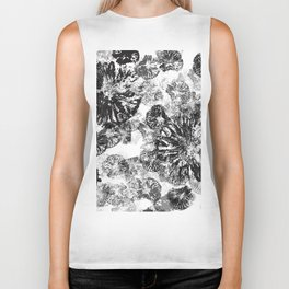 Monkey Stamps Turned Into Flowers Biker Tank