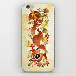 Playful Squirrel iPhone Skin