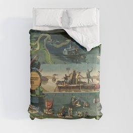 The adventures of Huckleberry Finn from the book by Mark Twain Comforters