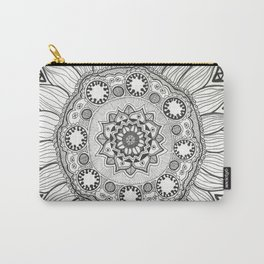 Black Sunflower Carry-All Pouch