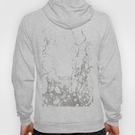 Gray white abstract modern marble pattern Hoody
