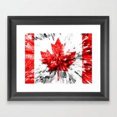 Canada Flag - Extrude Framed Art Print