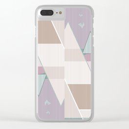 Abstract pattern in pastel colors . Clear iPhone Case