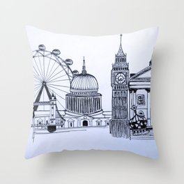 You sound like you're from London Throw Pillow