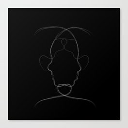 wo-many faces Canvas Print