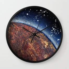 smoldering planet (Small Space 22) Wall Clock