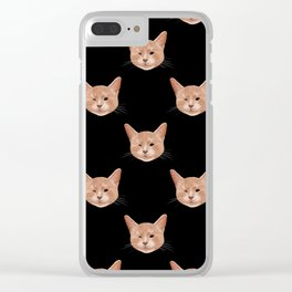 Kiki, the pretty blind cat Clear iPhone Case