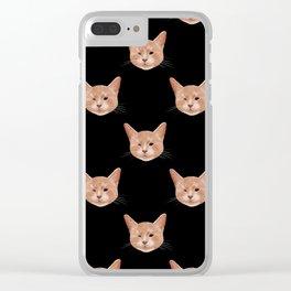 Kiki, the pretty blind cat Clear iPhone Case