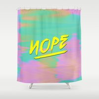 nope Shower Curtains featuring Nope by Janja Primozic