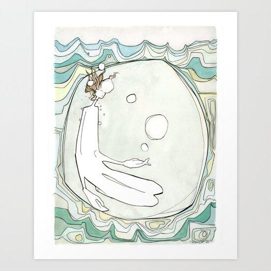 She Lived Underwater Art Print