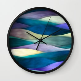 """""""Sea of ultraviolet and blue waves"""" Wall Clock"""
