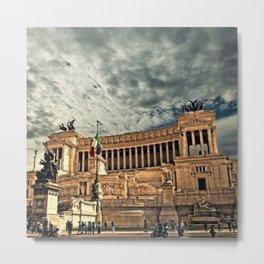 Vittorio Emanuele Monument Palace Rome Italy Metal Print