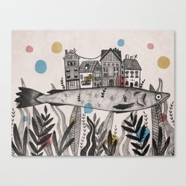 City-fish Canvas Print