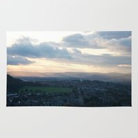 law Area & Throw Rugs featuring Dundee Law 2 by RMK Photography