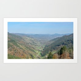 French view in the valley Art Print