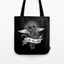 Cat-tholic Tote Bag