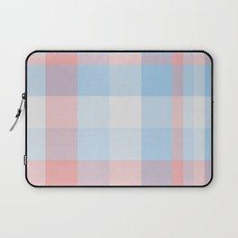 Sky blue Plaid Tartan Checkered Pattern Laptop Sleeve
