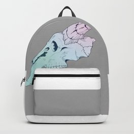 Rainbow cotton candy colored skull Pop art Backpack