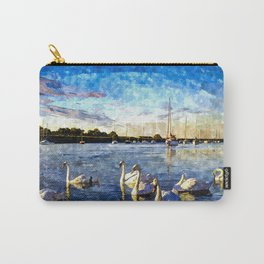 Serene Swans Watercolor  Carry-All Pouch