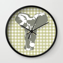Serengeti Safari Dot with Pop Art Elephant Wall Clock