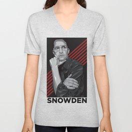 Edward snowden Unisex V-Neck