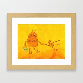 Robomama Robot Mother And Child Framed Art Print