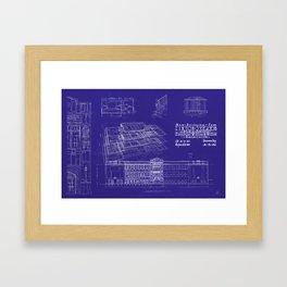 LHS 1921 - Blueprint Style Framed Art Print